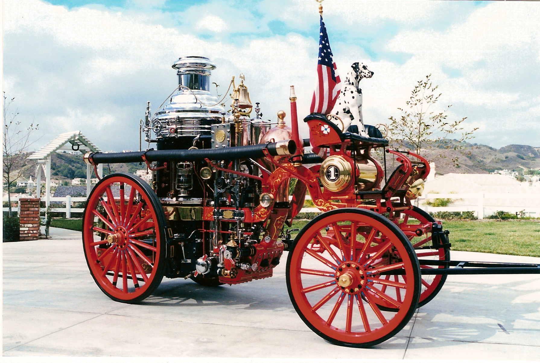 1902 Steam Fire Engine with Blaze