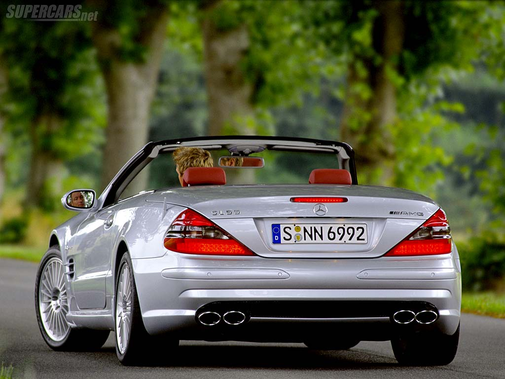 Mercedes Benz mercedes benz sl55 : 2003 Mercedes-Benz SL 55 AMG | Review | SuperCars.net