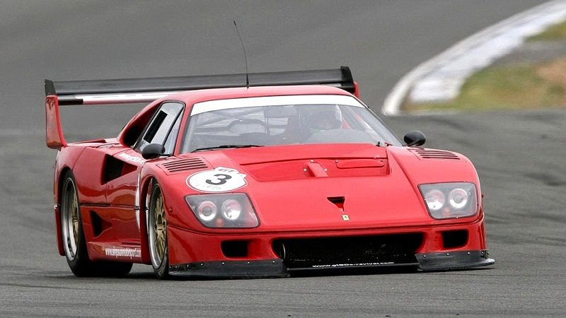 1989 Ferrari F40 LM; top car design rating and specifications