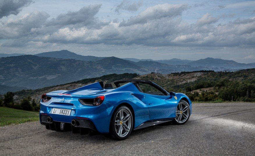 2017 Ferrari 488 Gtb Blue Color Alloy Wheels And Taillights Supercars Net