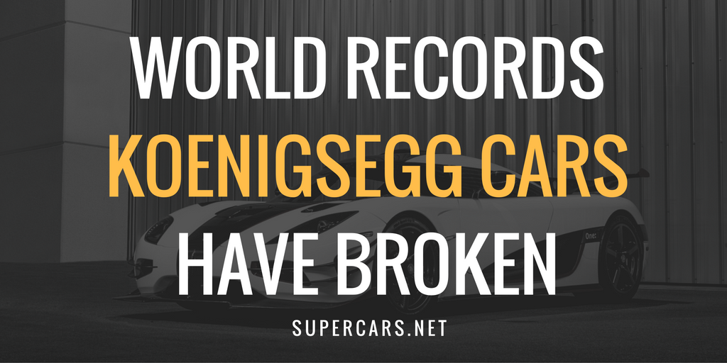 KOENIGSEGG world records