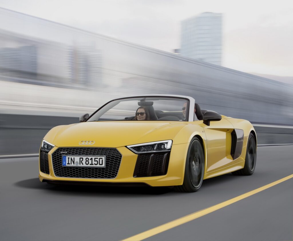 best convertible supercars - audi r8 spyder