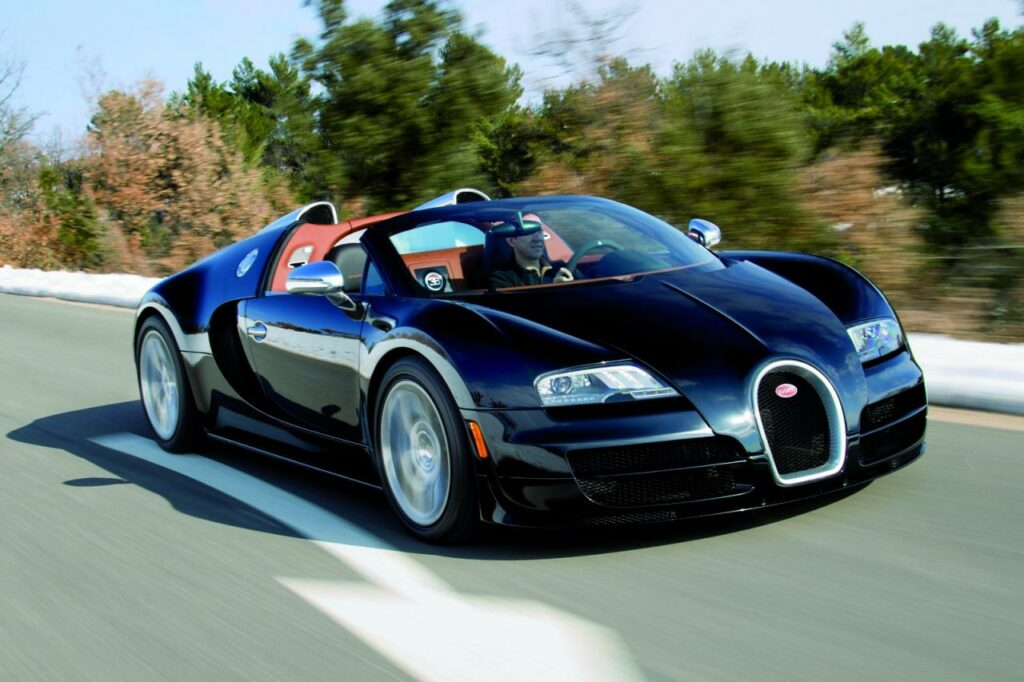 best convertible supercars - bugatti veyron grand sport