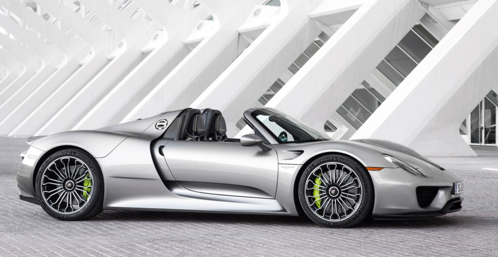 best convertible supercars - porsche 918