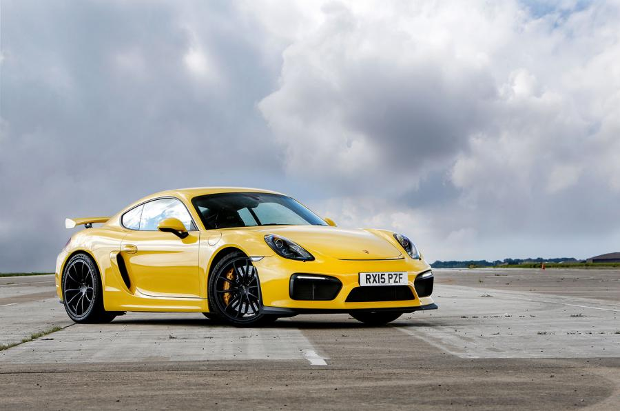 Porsche Cayman GT4 Yellow