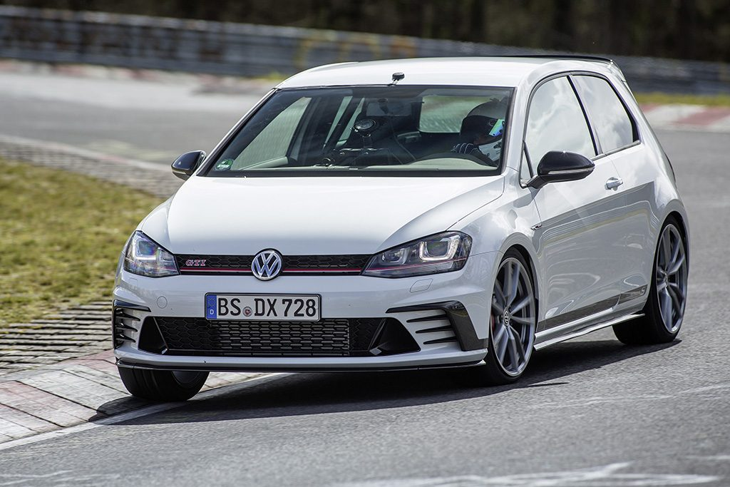 The Volkswagen VW GTI Clubsport S in its natural habitat. Photo courtesy of VW Media Services.