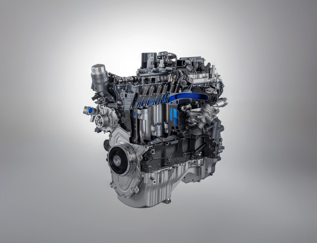 Jaguar four-cylinder F-Type engine block press shot