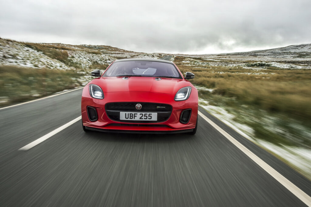 Jaguar F-Type four-cylinder F-Type press shot mY 2018