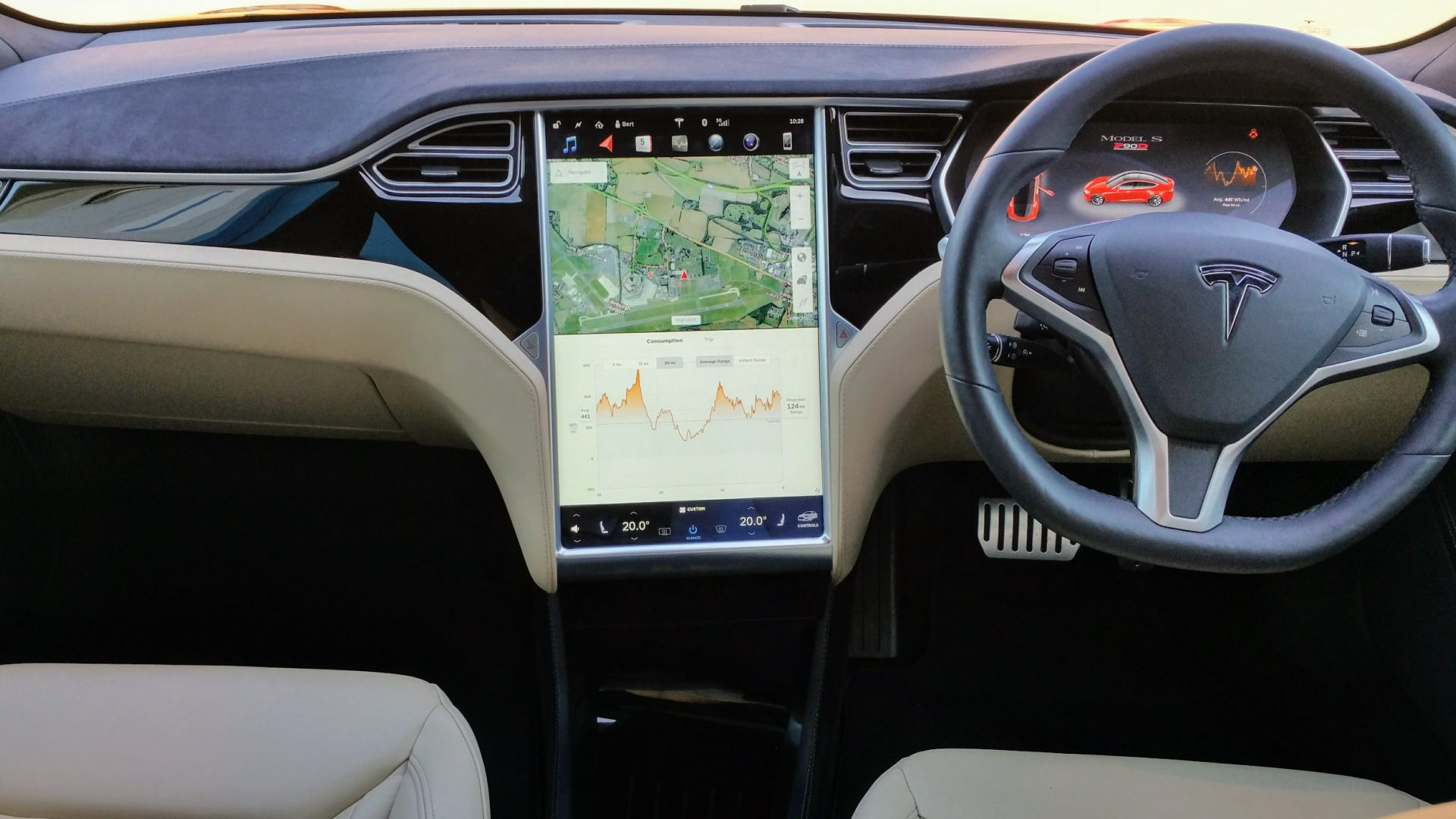 Tesla Model S P90D Interior | Phoo Credit Jack Matthews McMotorsCars.Blogspot.co.uk