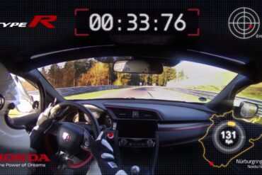 Honda Civic Type R Breaks the Nurburgring Front-Drive Lap Record