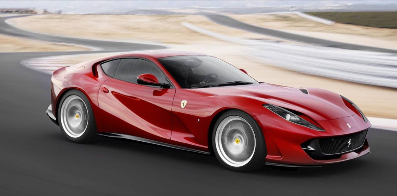 The Top 10 Fastest Cars of 2017 - 2018 Ferrari 812 Superfast