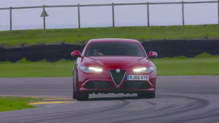Alfa Romeo Giulia Quadrifoglio Shows Off its Speed at the Anglesey Circuit
