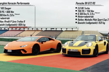 Porsche 911 GT2 RS vs Lamborghini Huracán Performante