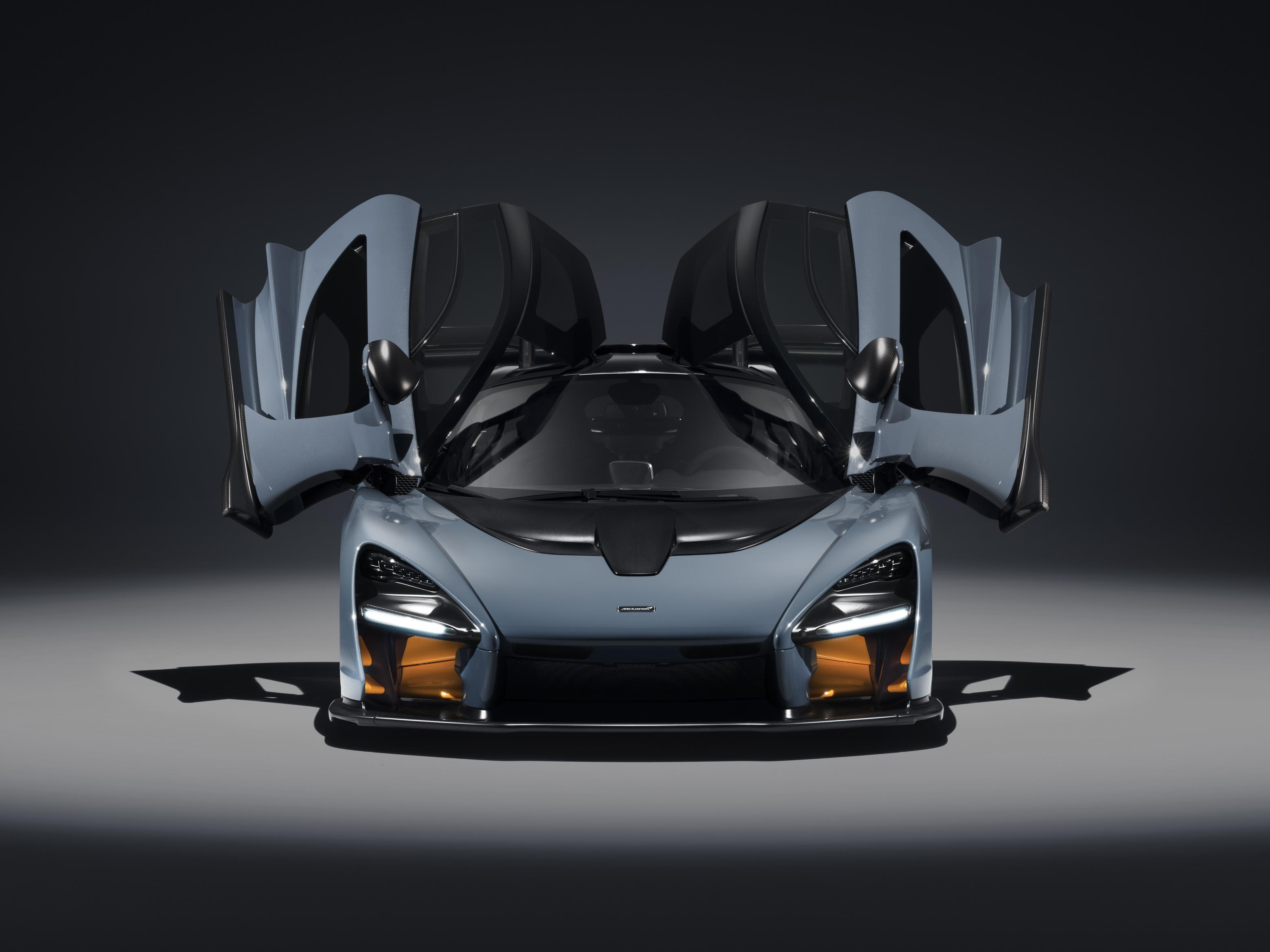 The McLaren Senna, in Victory Grey. All 500 examples of the British luxury sports car manufacturer's latest Ultimate Series vehicle have been assigned to their owners.