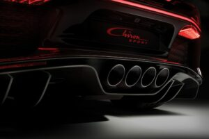 Quad exhaust ports, unique to the Chiron Sport.
