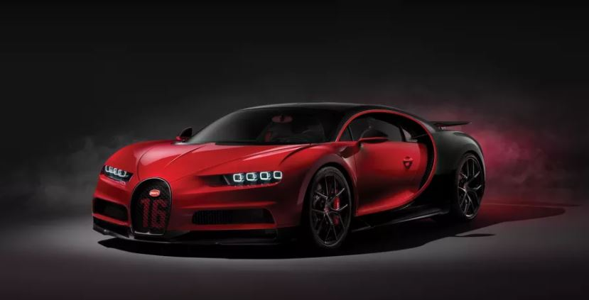 Front view of the Chiron Sport