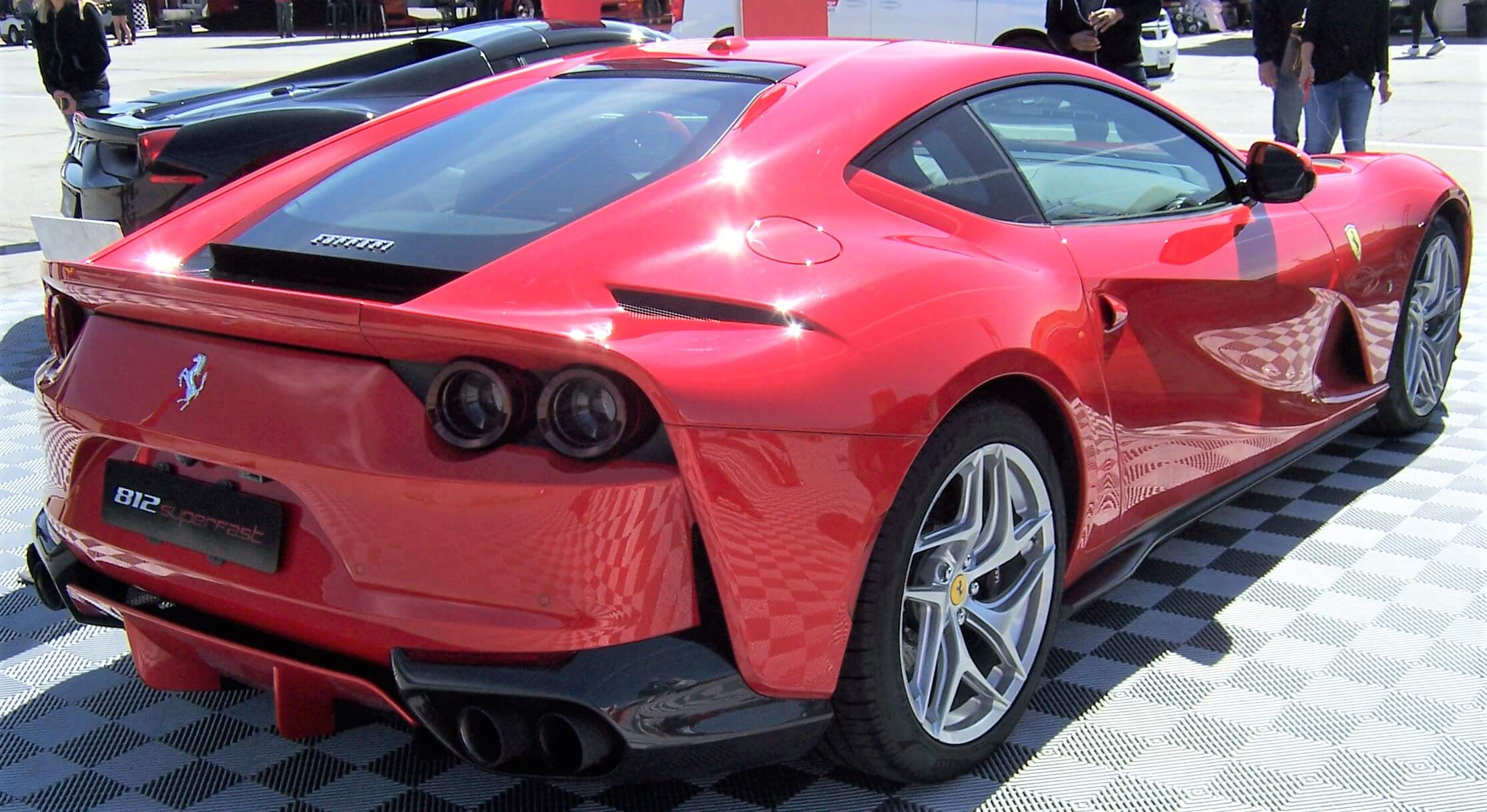 Ferrari Superfast 812 Red Rear