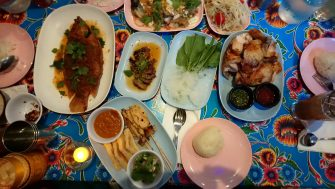 A Thai feast at Pok Pok.
