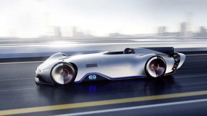 Mercedes-Benz Showcar Vision EQ Silver Arrow, Pebble Beach 2018