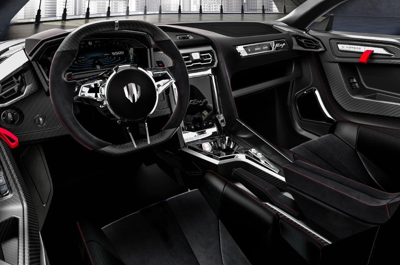 W Motors Fenyr cockpit