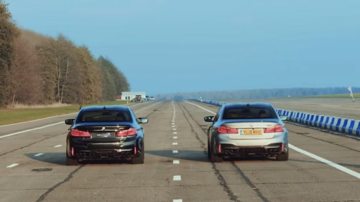 BMW M5 drag race