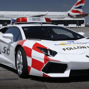 Lamborghini Aventador airport vehicle