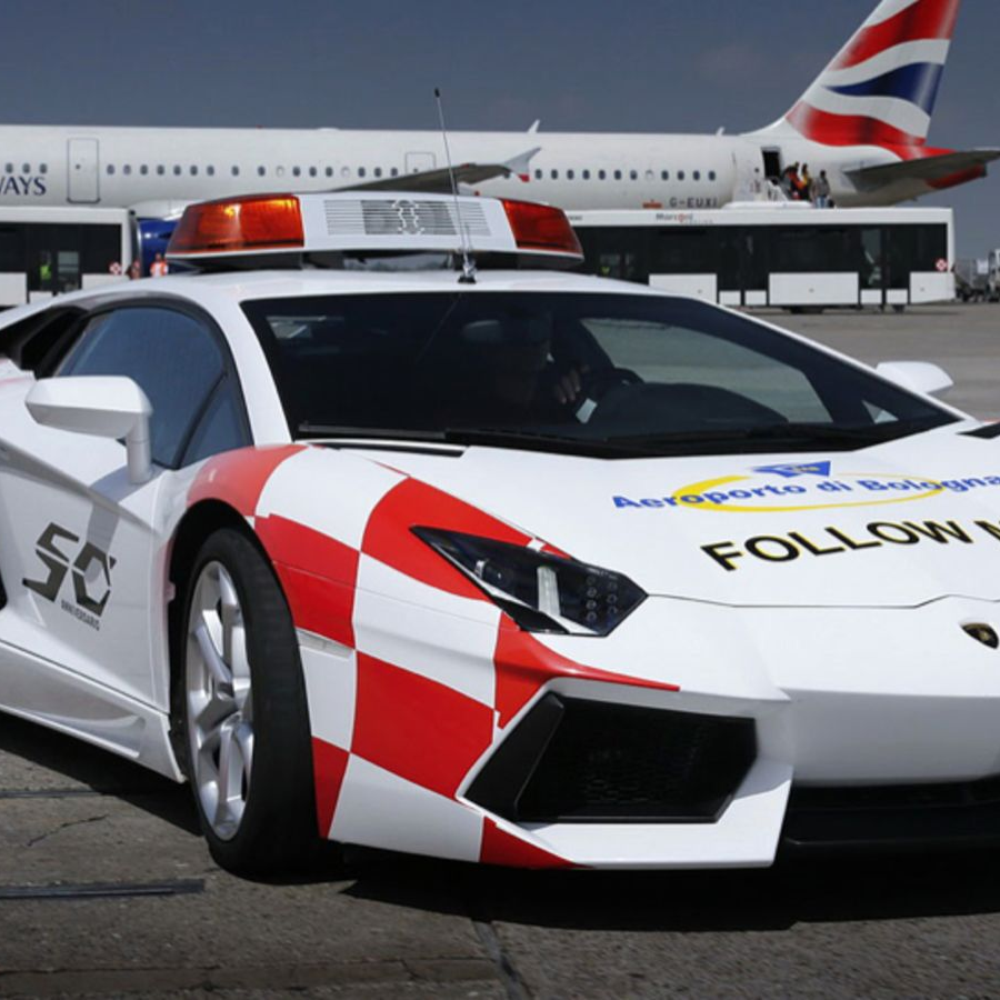 Lamborghini Aventador airport vehicle