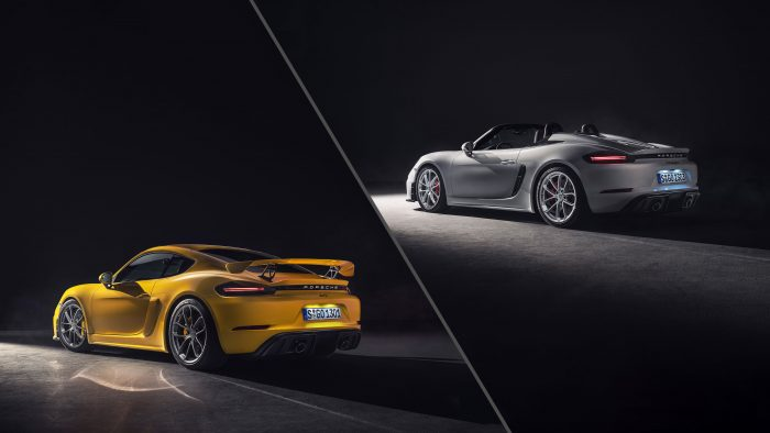 Porsche 718 Spyder and 718 Cayman GT4