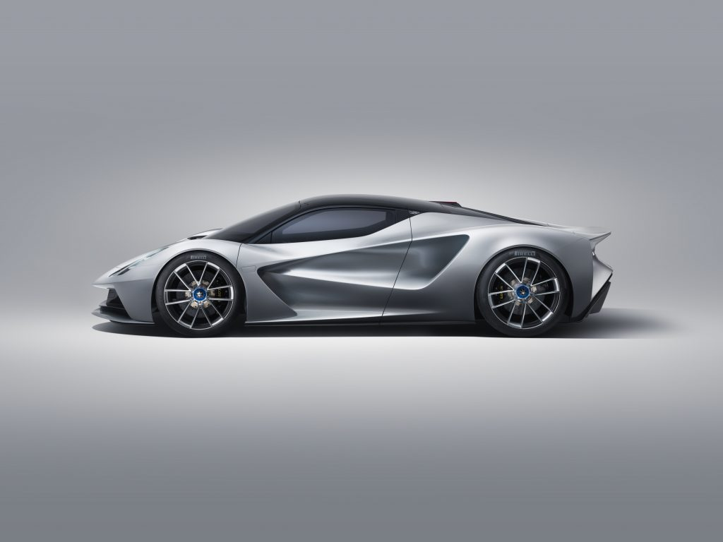 2020 Lotus Evija Side Profile