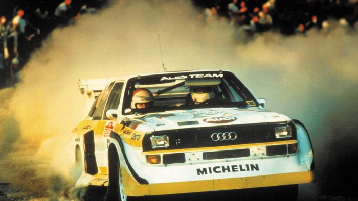 Sport Quattro S1 piloted by Blomqvist