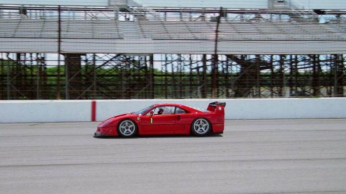 1989 Ferrari F40 LM on the track