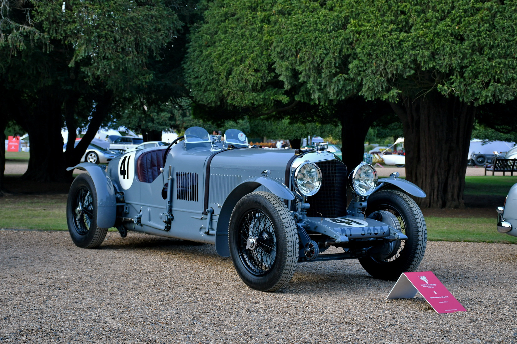 A grey Bentley Speed Six Old No.1 from 1929