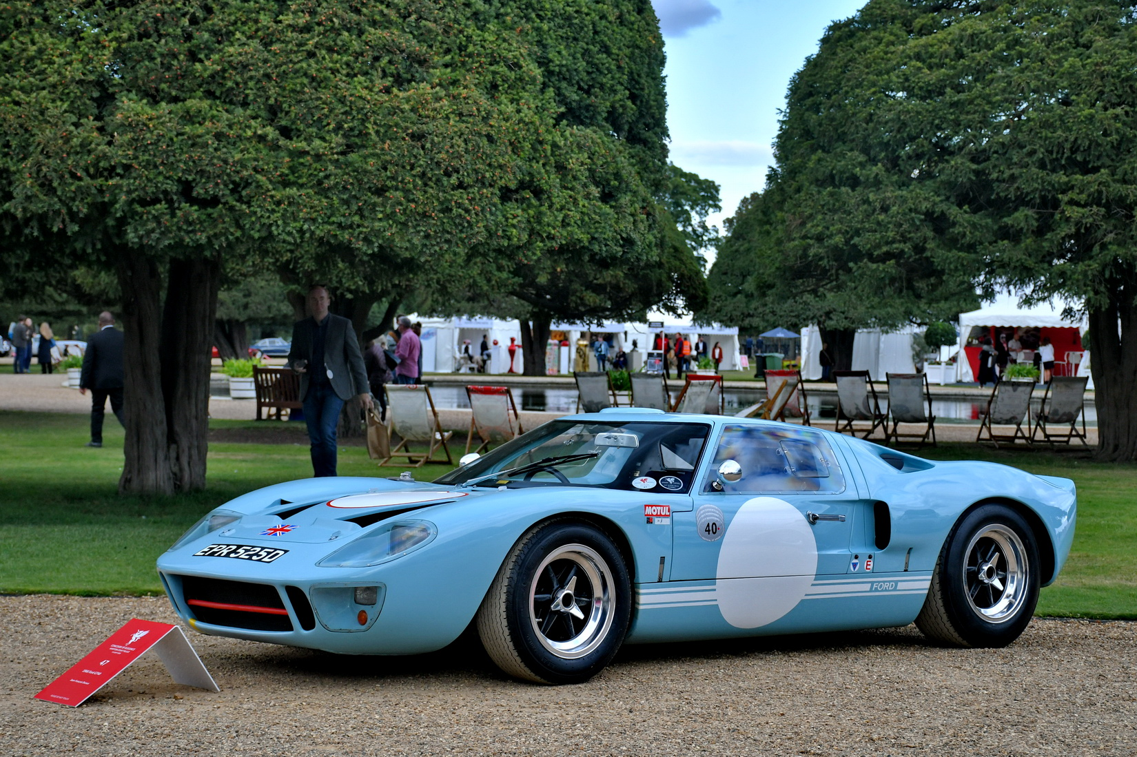 Light blue Ford GT40 from 1965