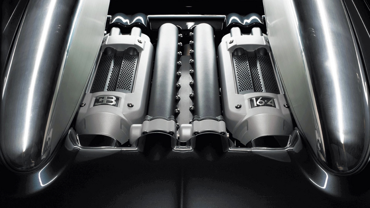 The 2005 Bugatti Veyron's 16.4 W-16 Engine.