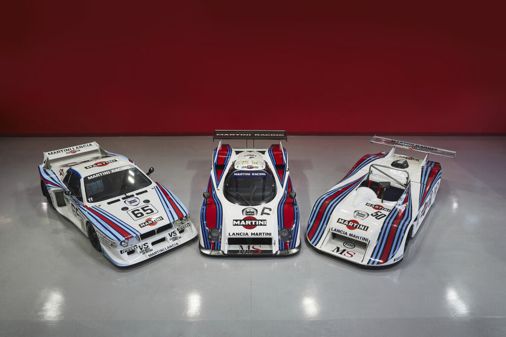 Lancia Beta Montecarlo Turbo, LC2 Group C, and LC1 Group VI