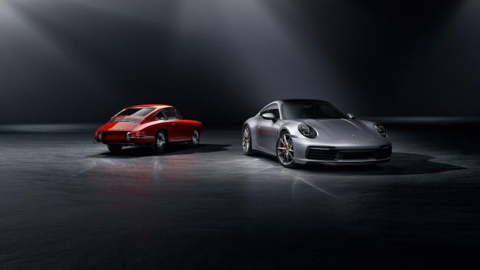 Original and new Porsche 911