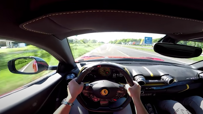Ferrari 812 Superfast On the Autobahn
