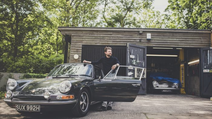 Matthew Humphries with a Porsche 911