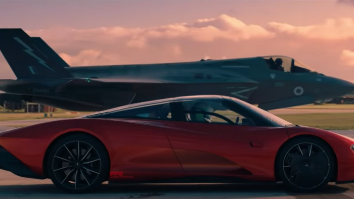 Top Gear Video of McLaren Speedtail vs F35 Fighter Jet