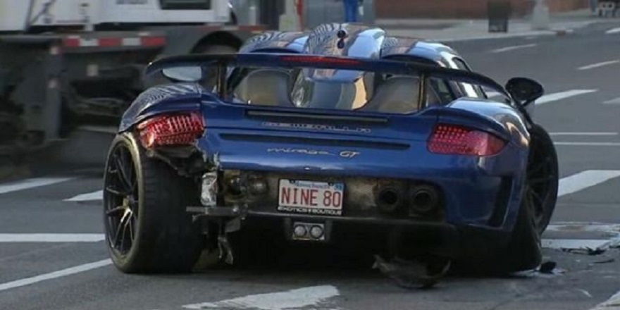 Gemballa Mirage GT crash NYC
