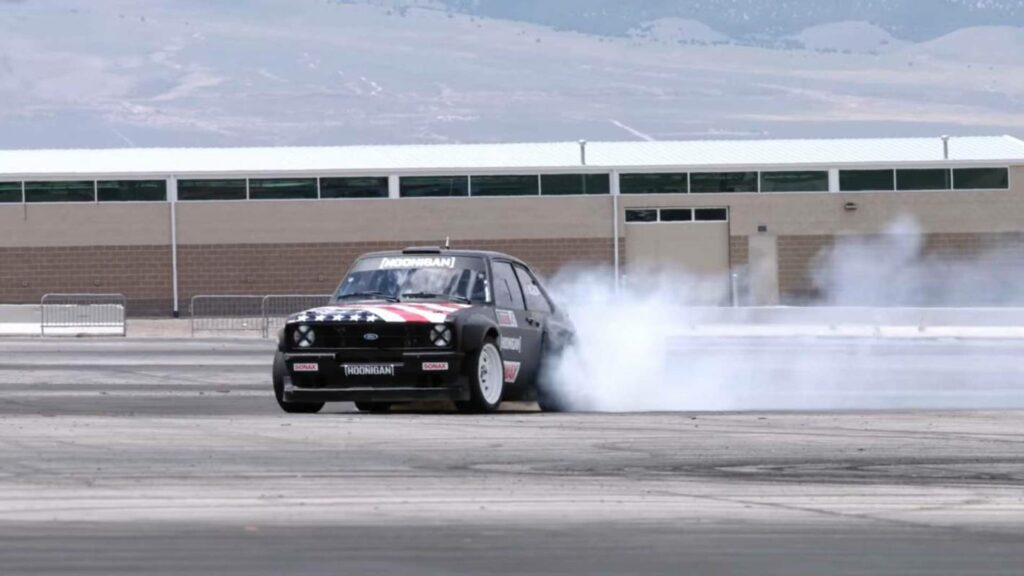 Lia Block learns to do donuts