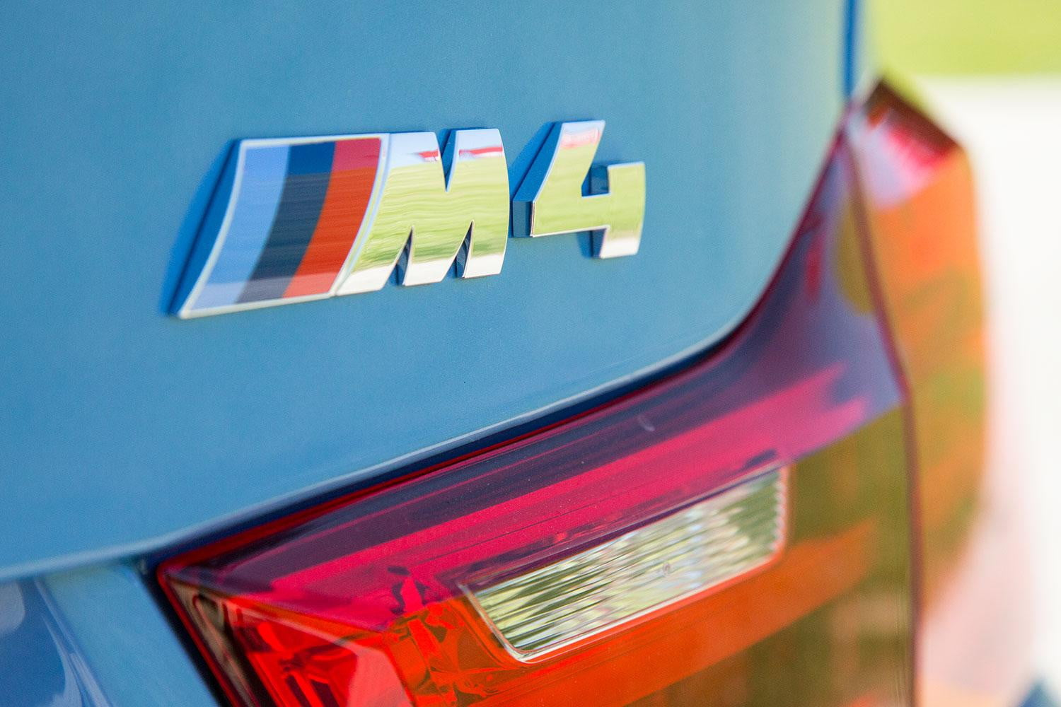 BMW M4 badge