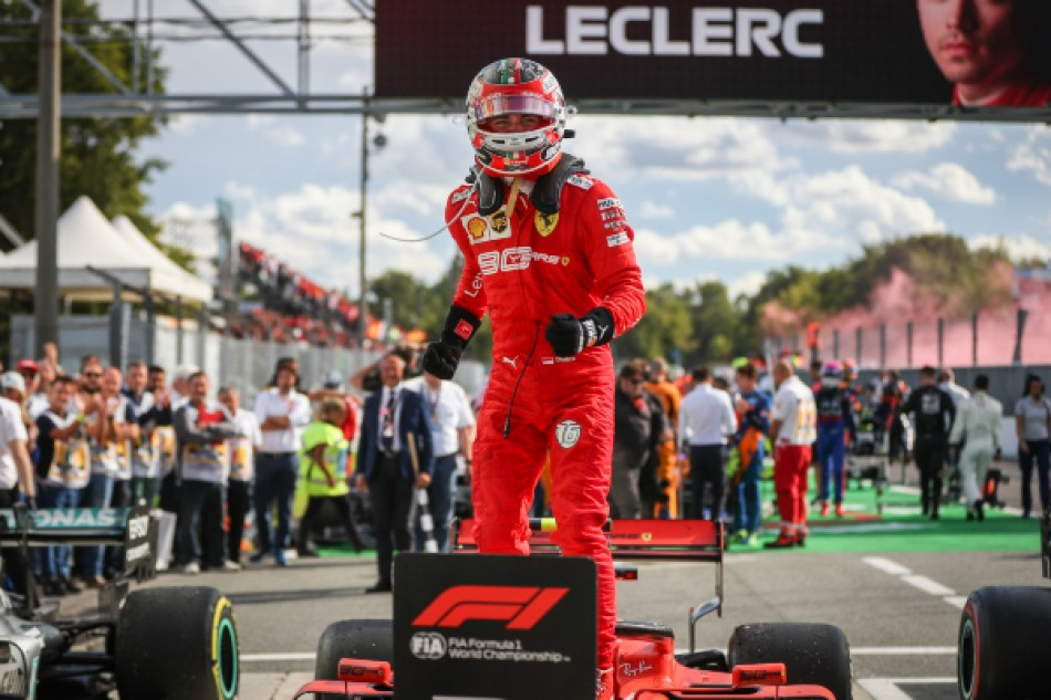 Charles Leclerc wins at Ferrari's home race
