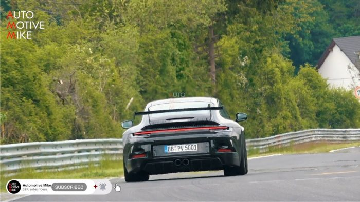 992 GT3 testing at the Nurburgring