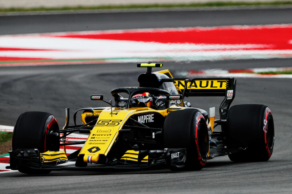 Carlos Sainz in 2018 with Renault