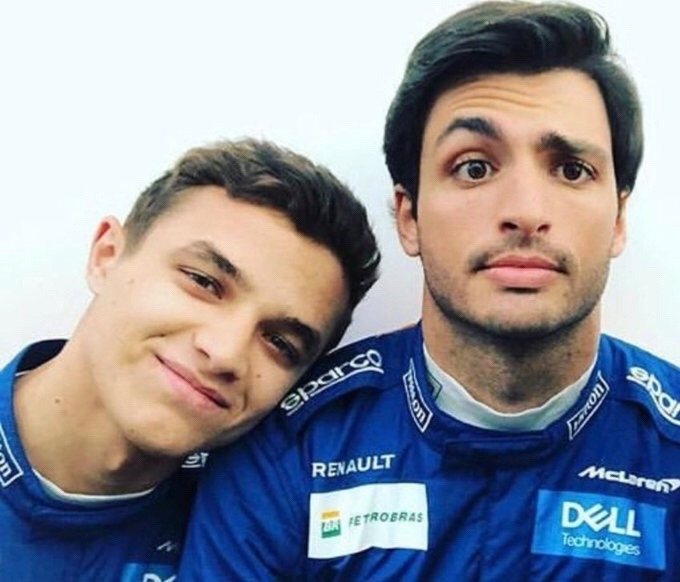 Lando Norris and Carlos Sainz
