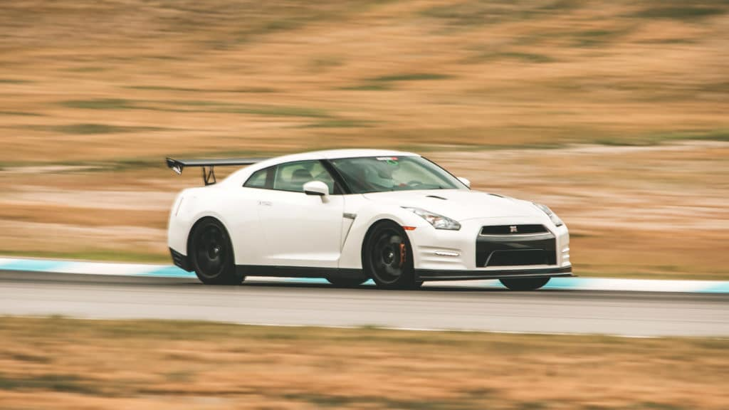 Nissan GT-R at Race track