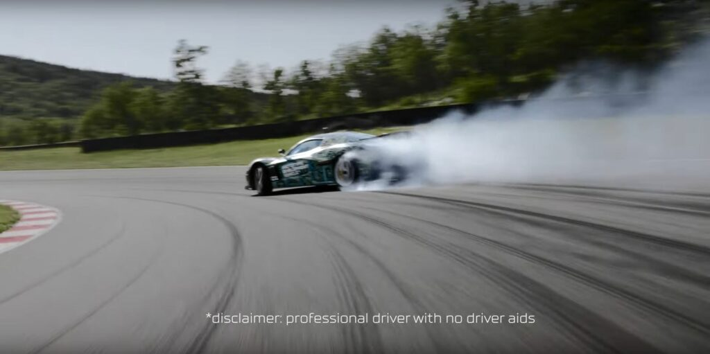 Rimac C_Two drifting