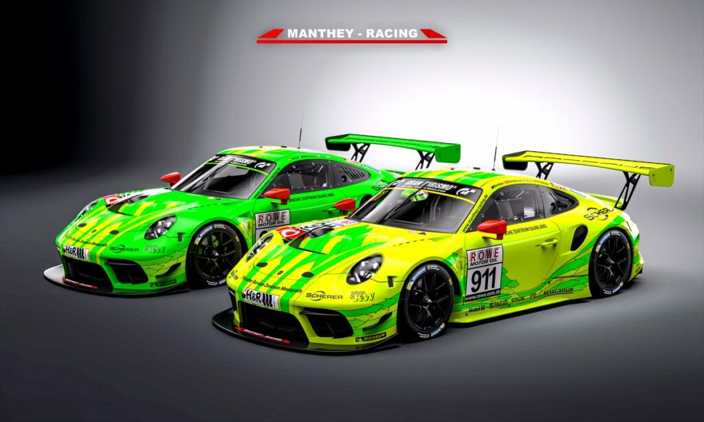 Manthey Racing Porsche 911 GT3's for ADAC 24 Hours of Nurburgring 2019