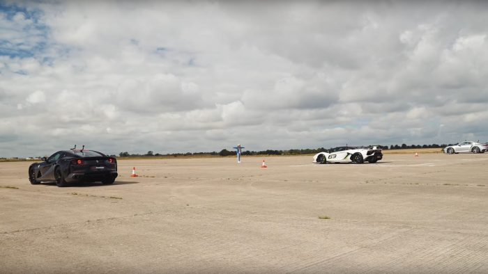 812 vs SVJ vs Turbo S drag race